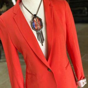Zara coral blazer